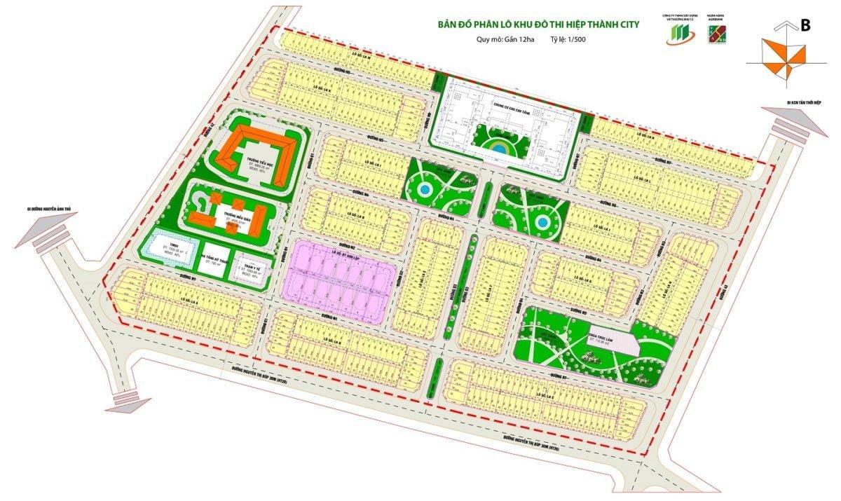 sơ đồ quy hoạch hiệp thành city quận 12