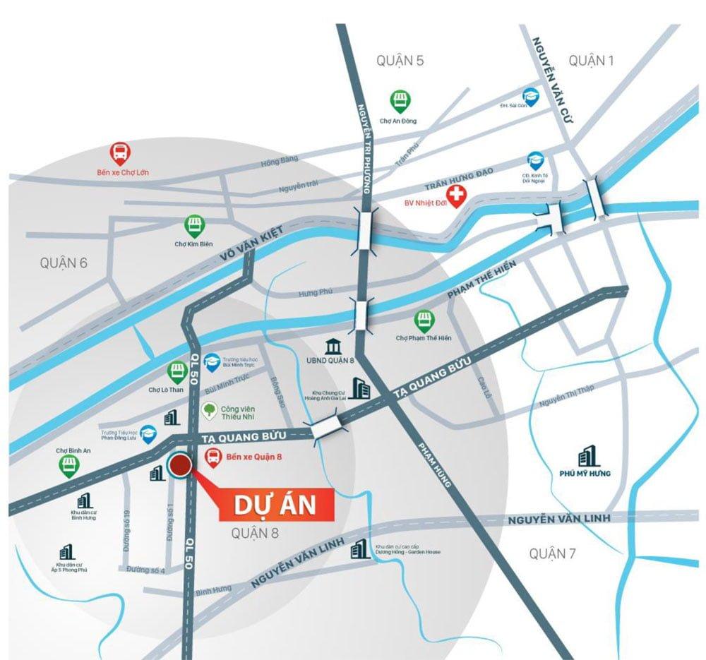 vị trí sai gon metro mall
