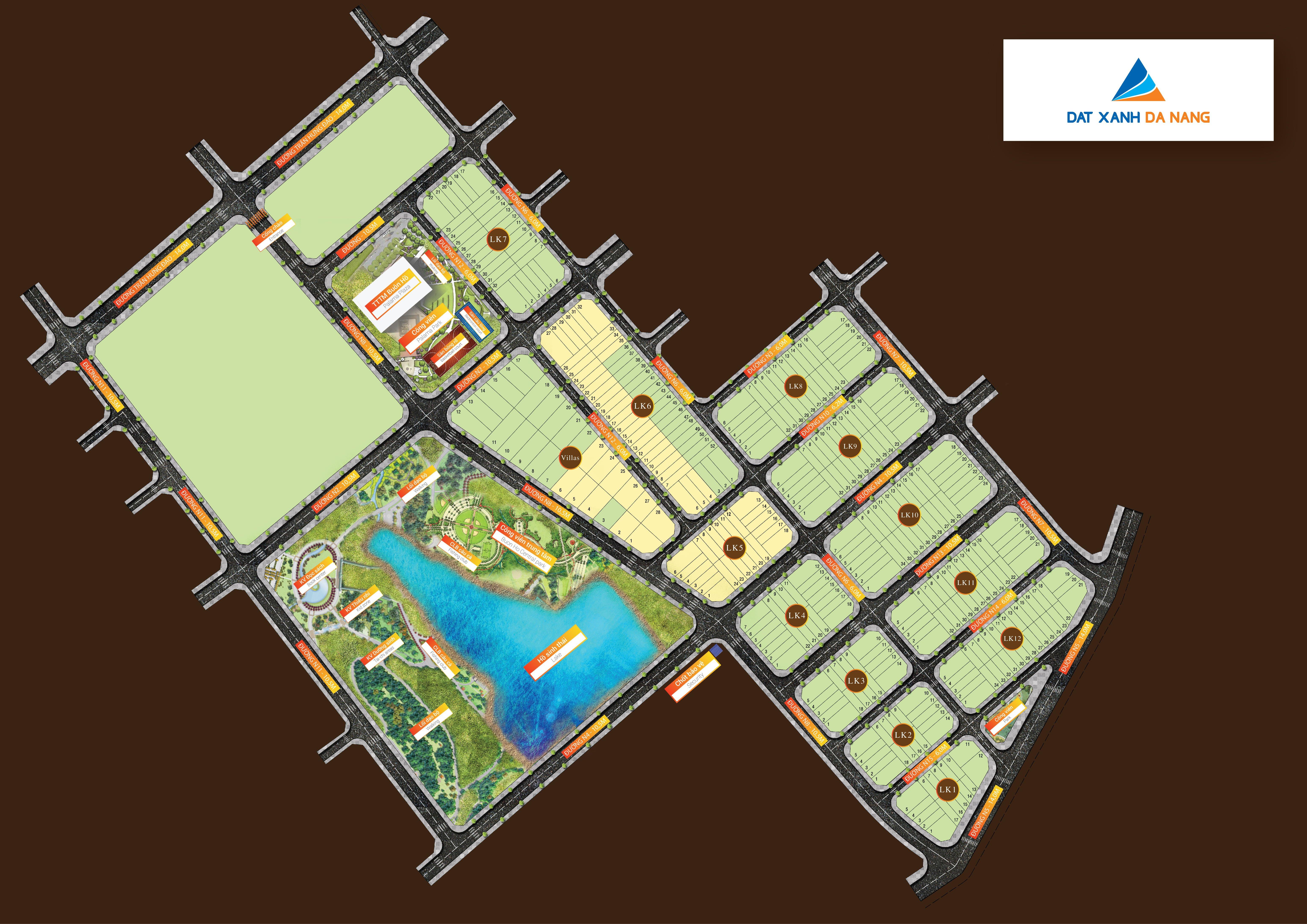 bản đồ phân lô buôn hồ central park