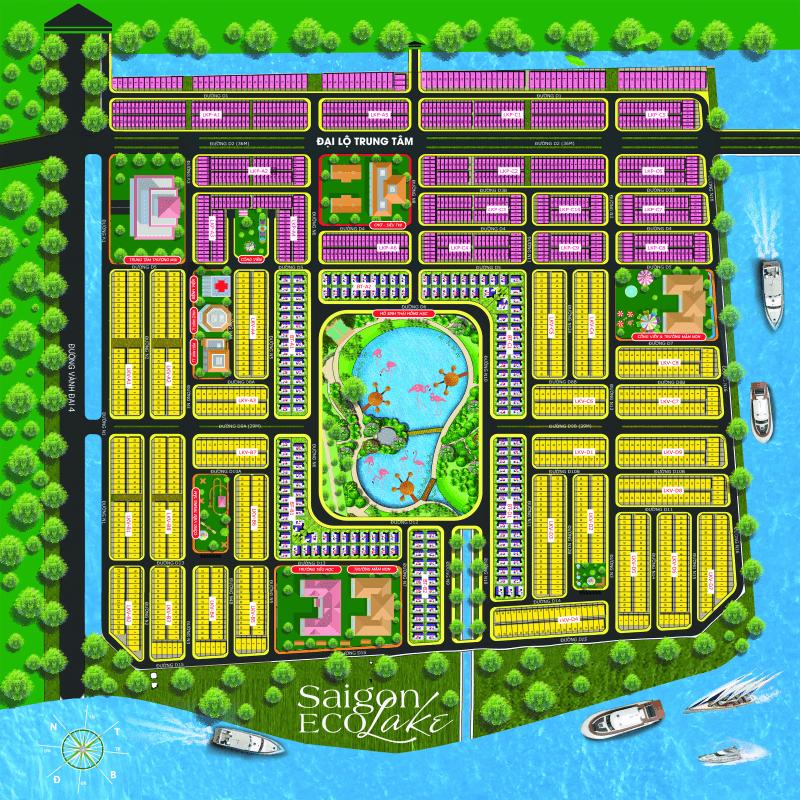 bản đồ phân lô sài gòn eco lake