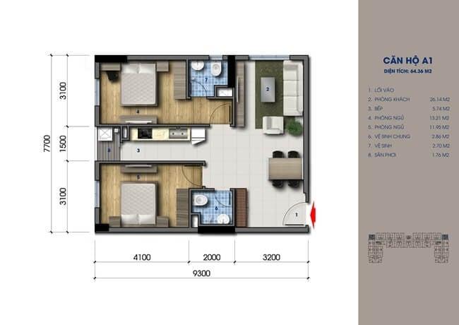 green mark thiết kế căn hộ 1