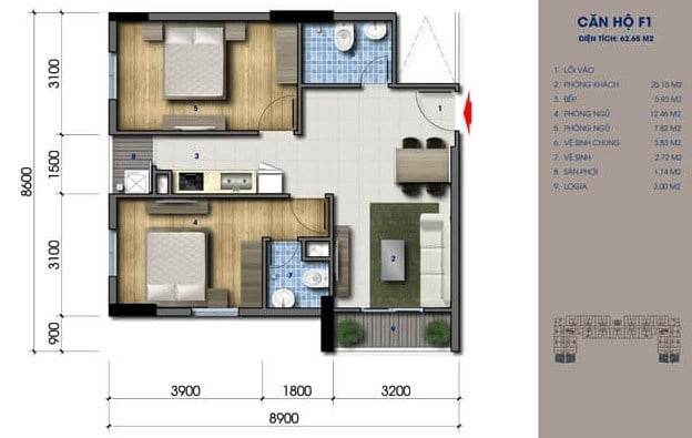 green mark thiết kế căn hộ 2