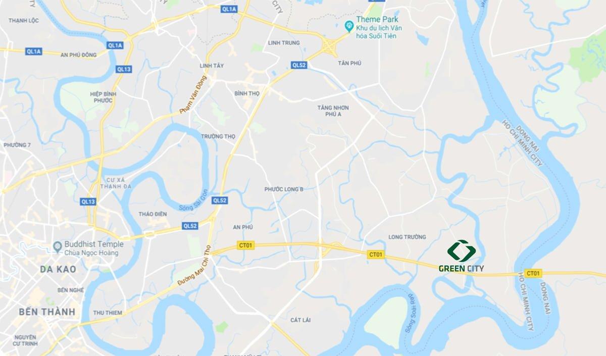 map green city quận 9