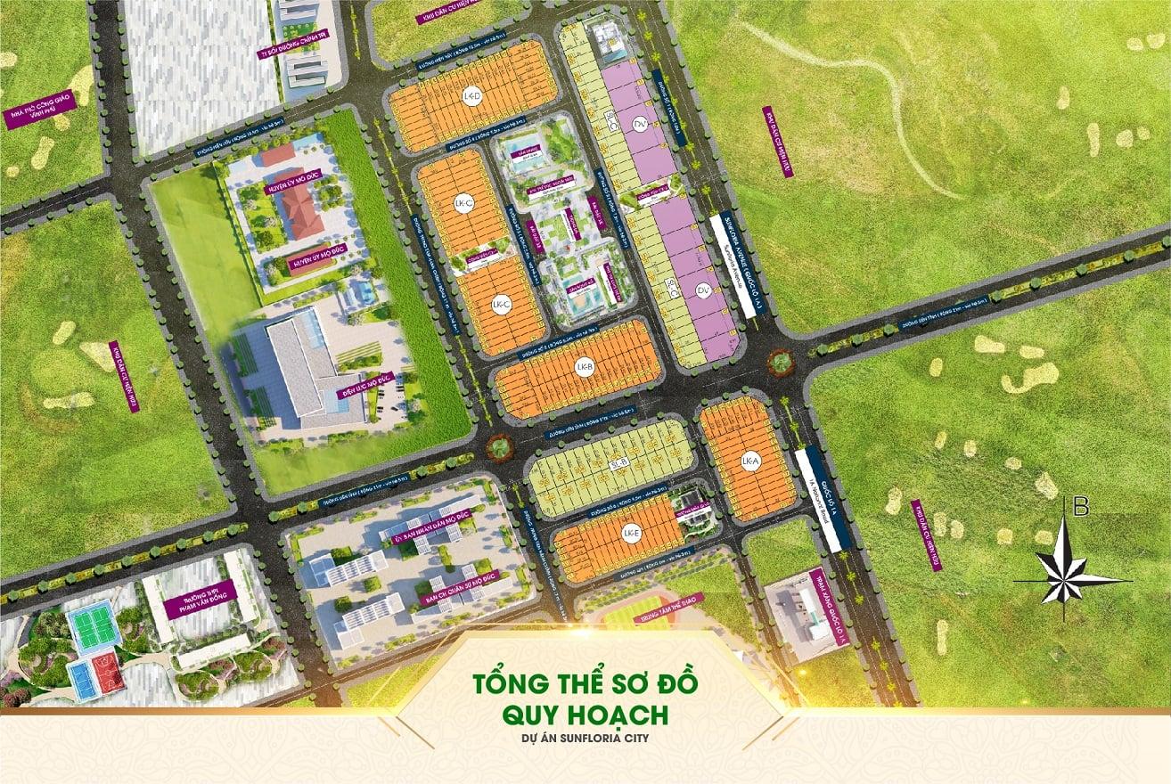 sơ đồ quy hoạch sunfloria city quảng ngãi