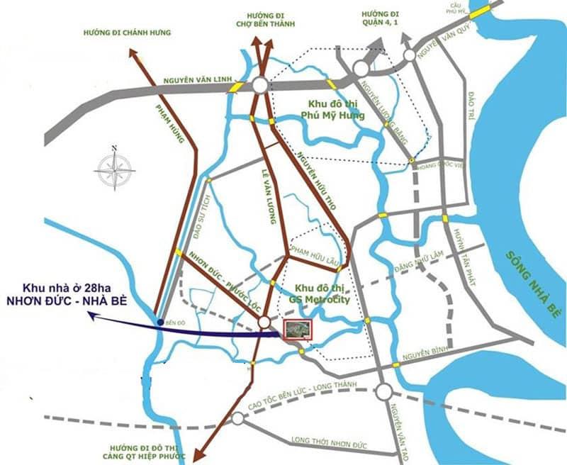 vị trí gs metro city