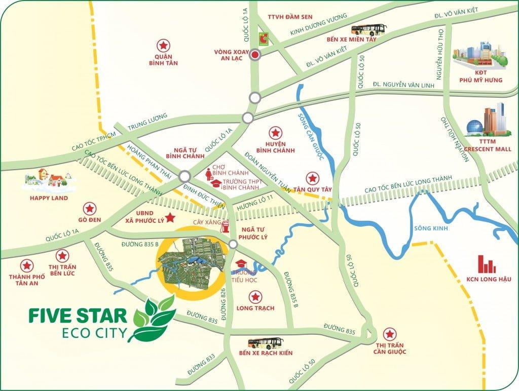 vị trí five star eco city