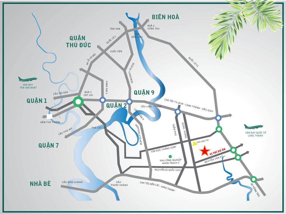 vị trí dự án Tiến Lộc Garden
