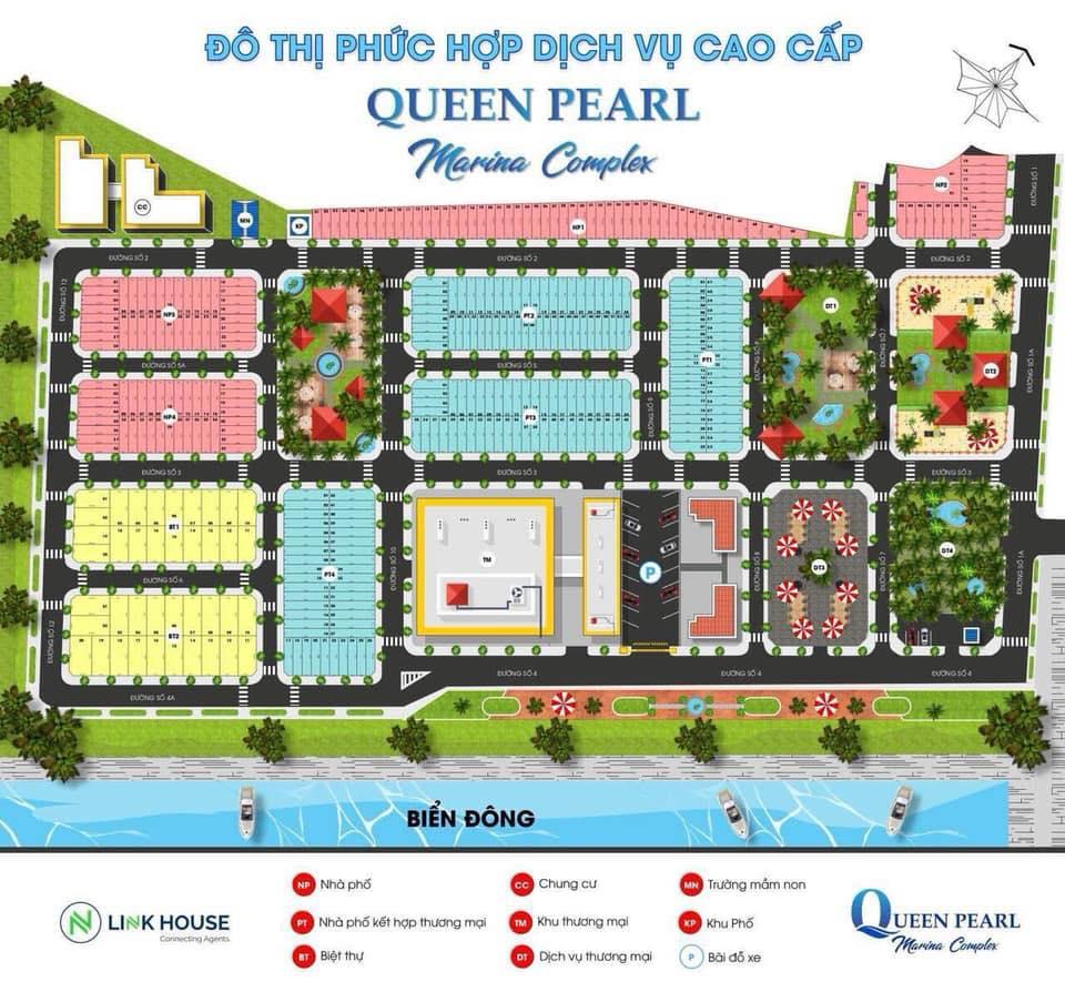 mặt bằng Queen Pearl Marina Complex
