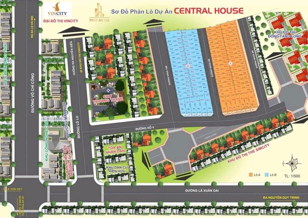 mặt bằng dự án central house quận 9