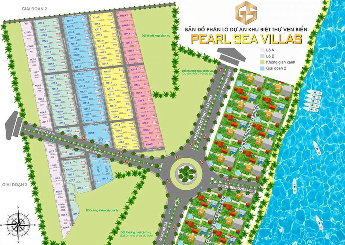 mặt bằng pearl sea villas