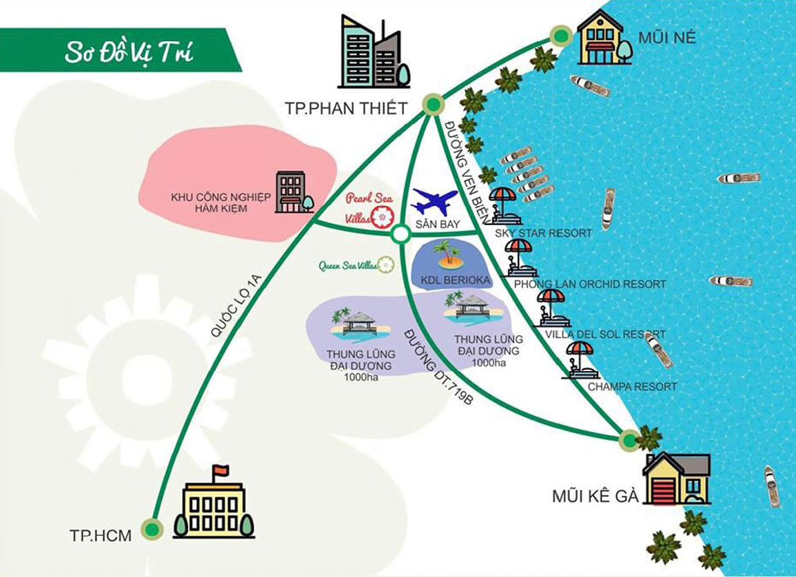 vị trí pearl sea villas