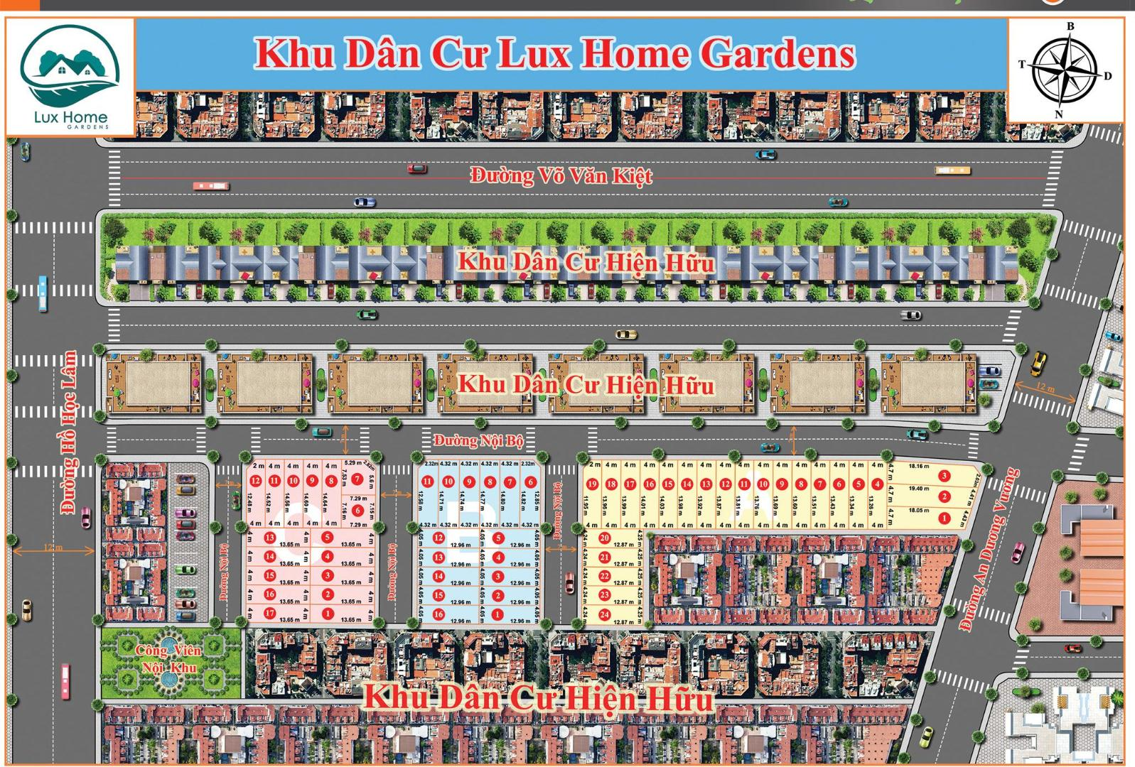 mat bang du an lux home garden