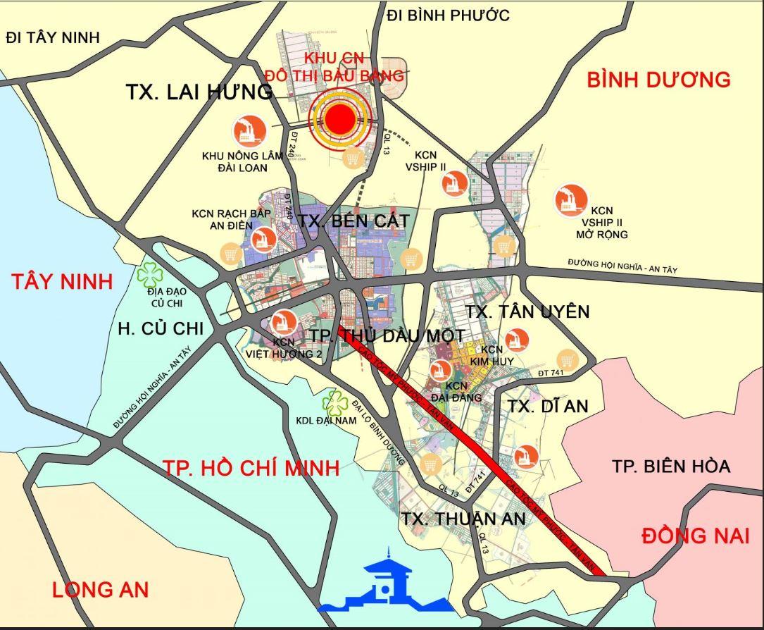 vi tri Golden Future City Binh Duong