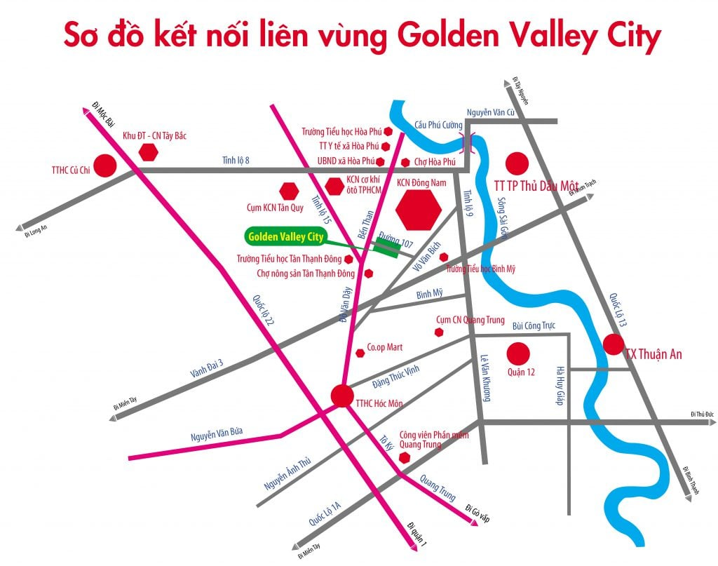 vi tri Golden Valley City Cu Chi