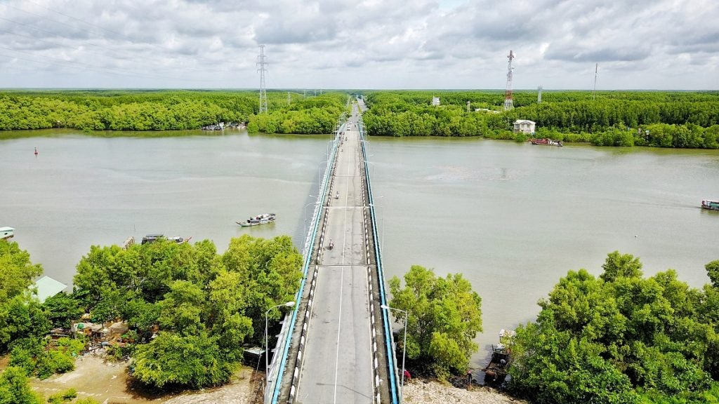 Cầu tại huyện Cần Giờ
