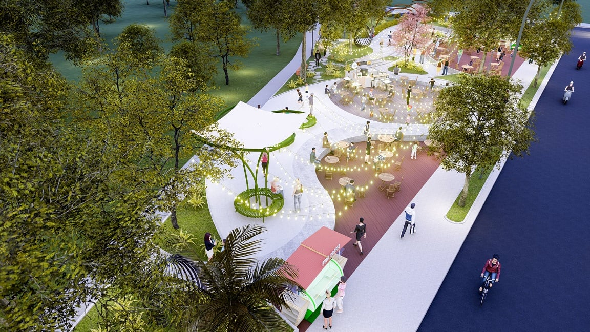 cong vien trung tam du an dai phat mall town