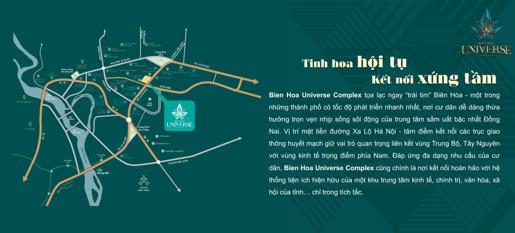 vi tri can ho Biên Hòa Universe Complex