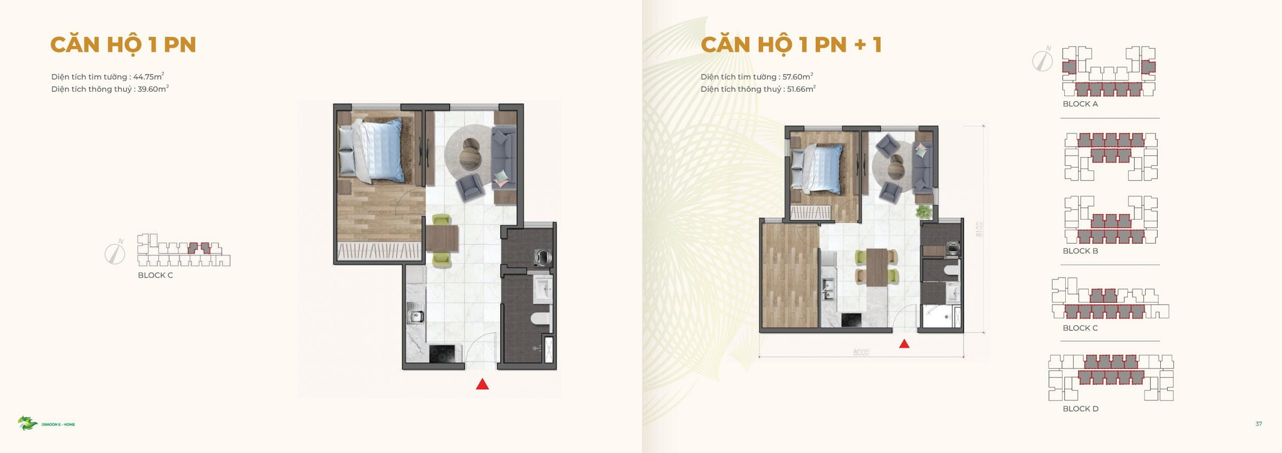 can ho 1PN +1 Dragon Ehome
