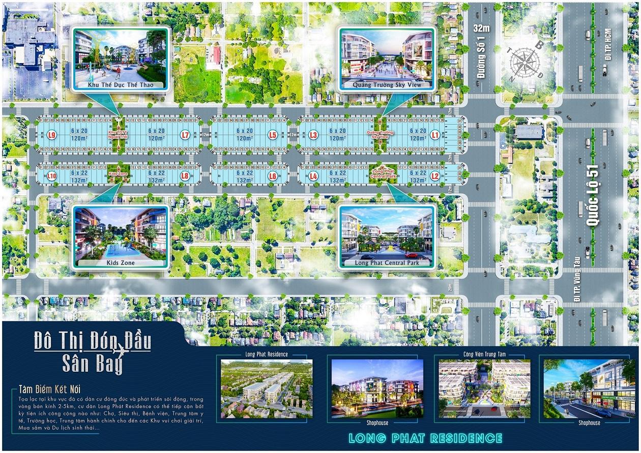 Mặt bằng Long Phát Residence Đồng Nai