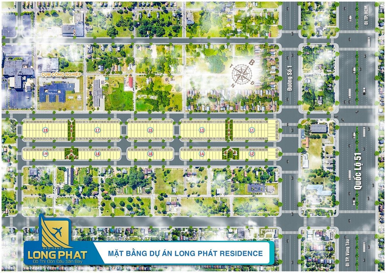 mat bang long phat residence long thanh