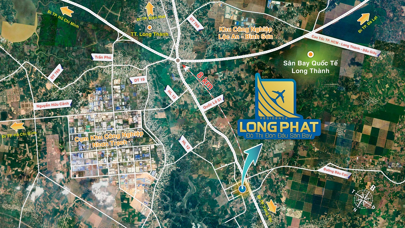 vị trí dự án long phát residence