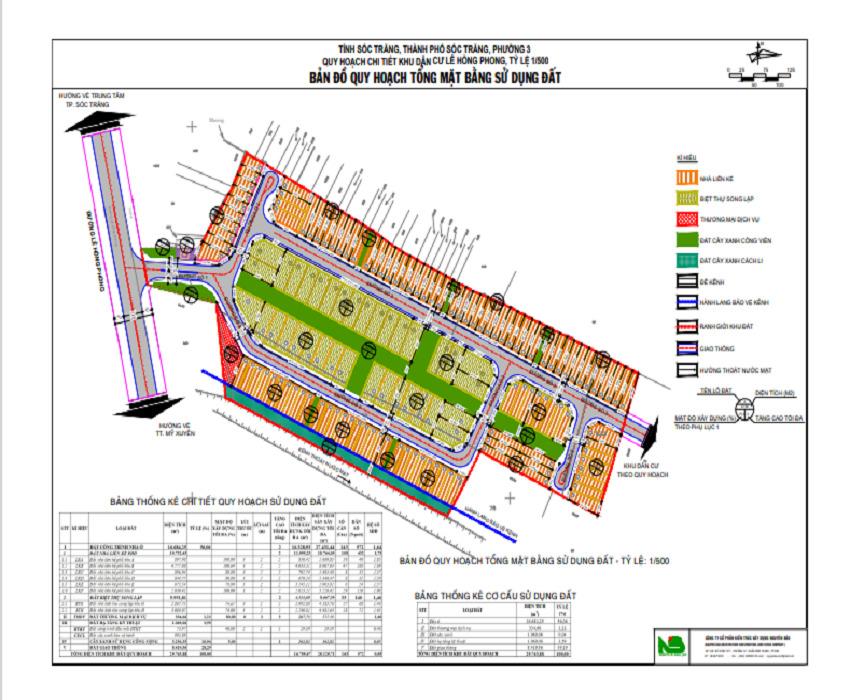 Bản đồ quy hoạch Garden Home Sóc Trăng