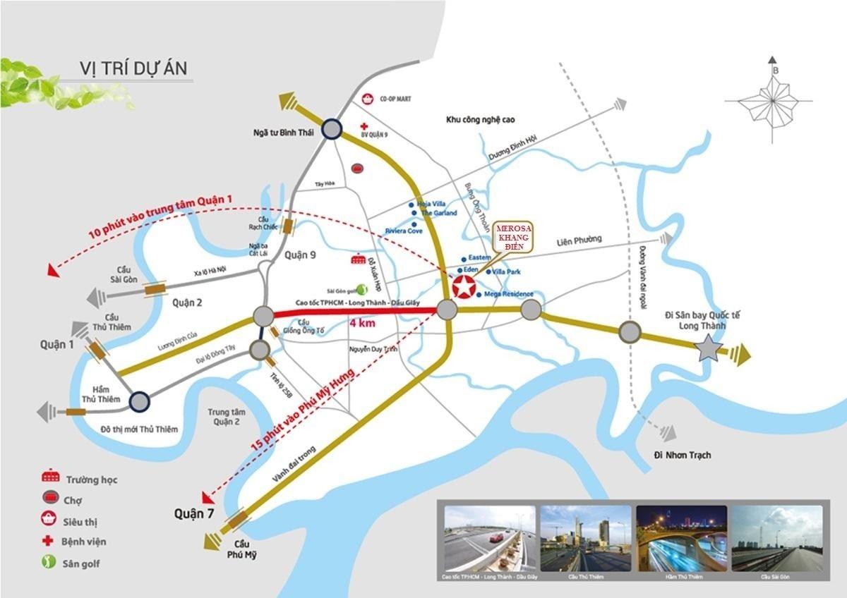 Vị trí dự án Merosa Park Khang Điền