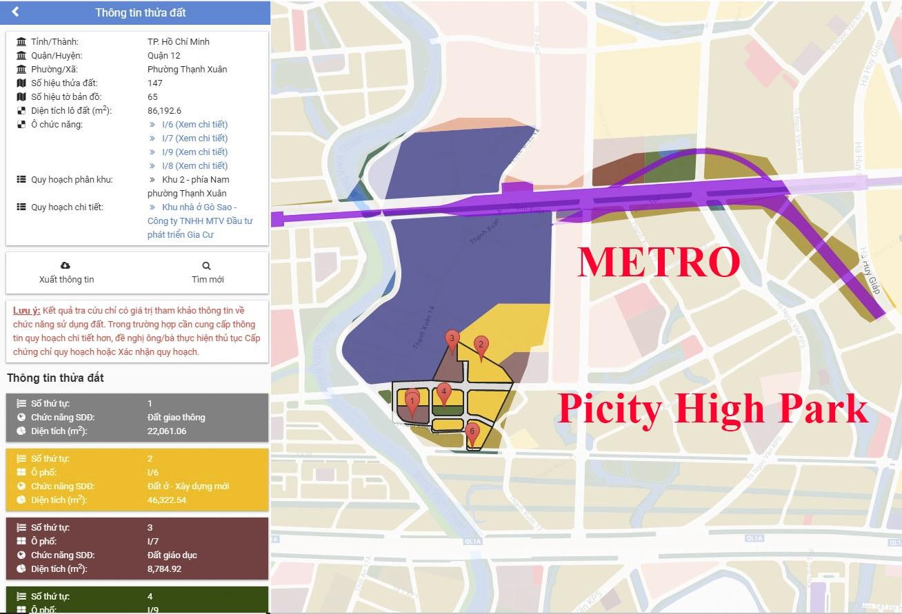 Shophouse Picity High Park & tuyến Metro số 4