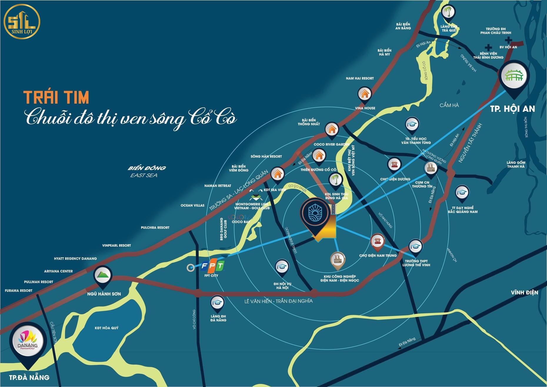 Vị trí Indochina Riverside Complex Quảng Nam