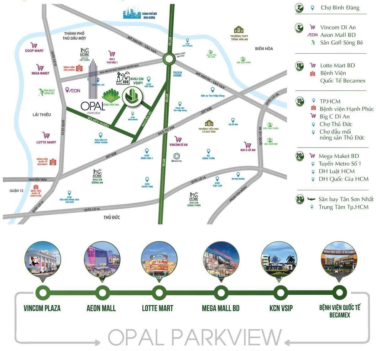 Vị trí Opal Park View Bình Dương