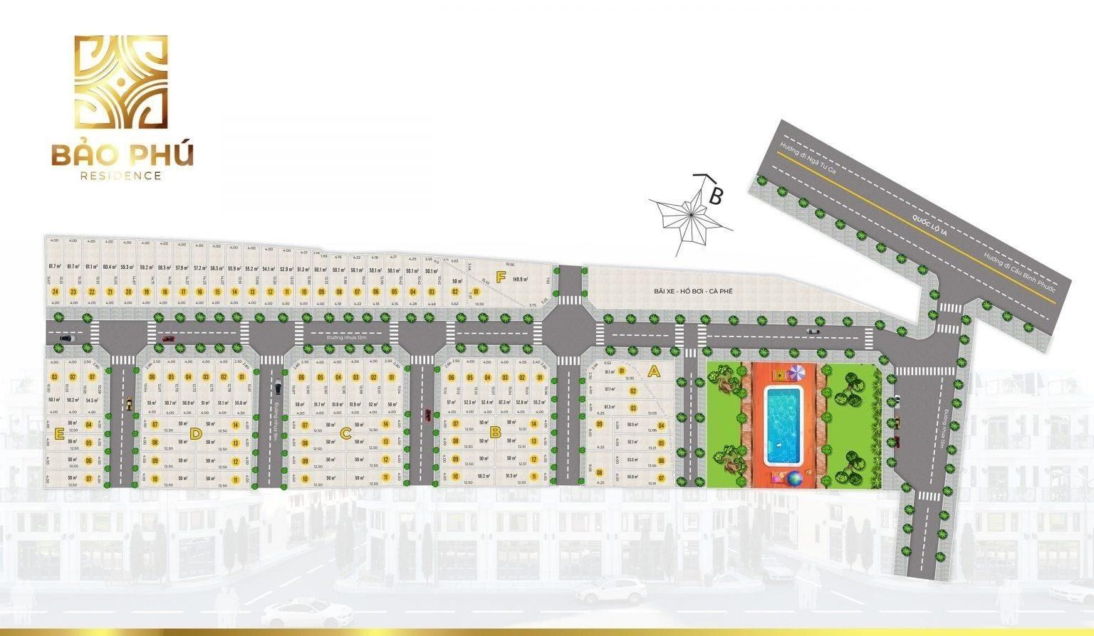mặt bằng Bảo Phú Residence