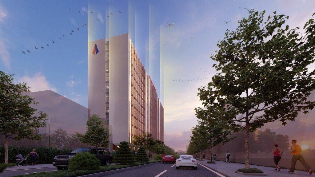 phối cảnh tổng thể căn hộ Techport City Nam Tân Uyên