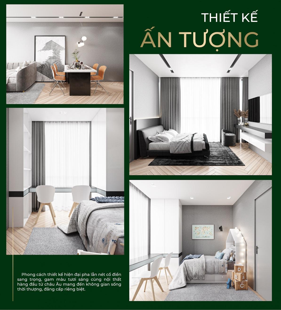 thiết kế căn hộ Nera Huê