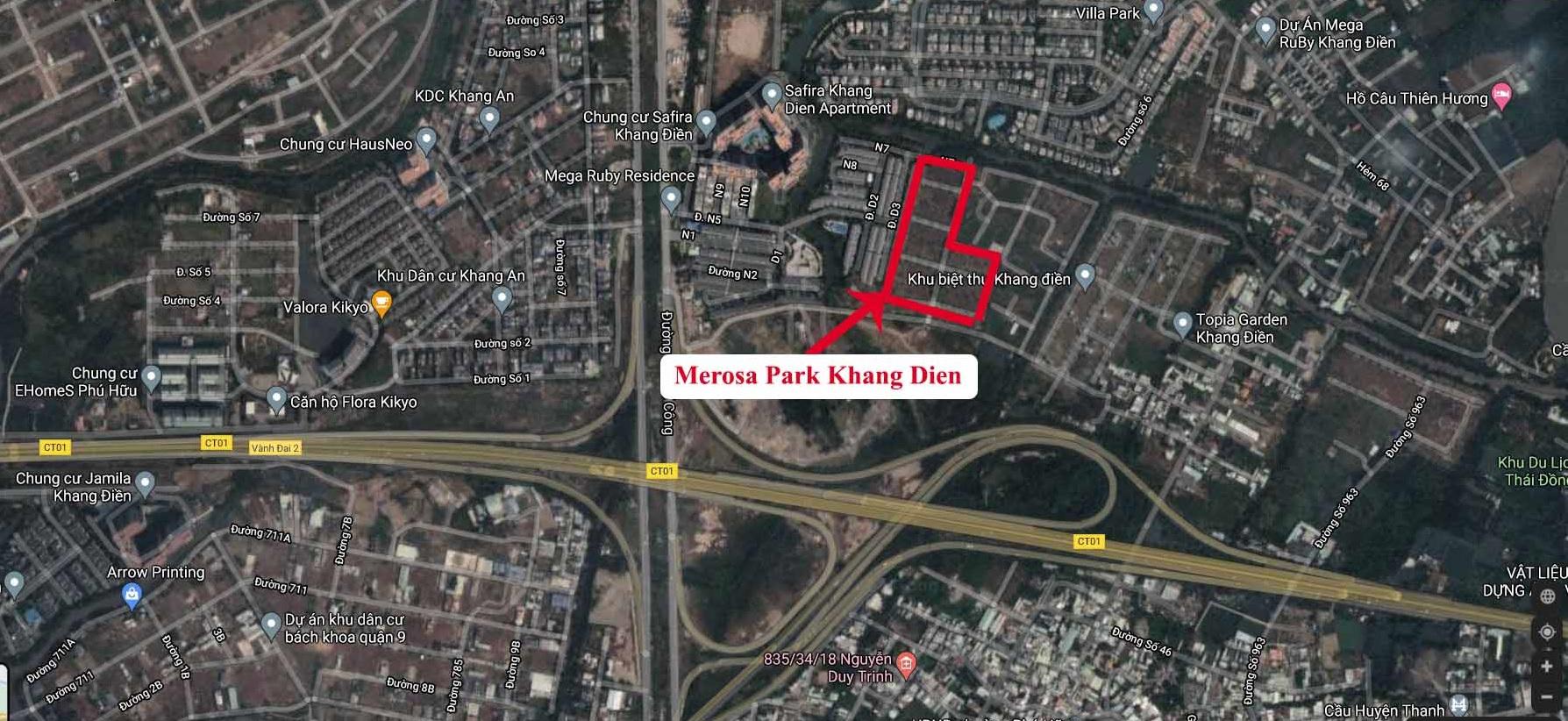 tiện ích ngoại khu Merosa Park