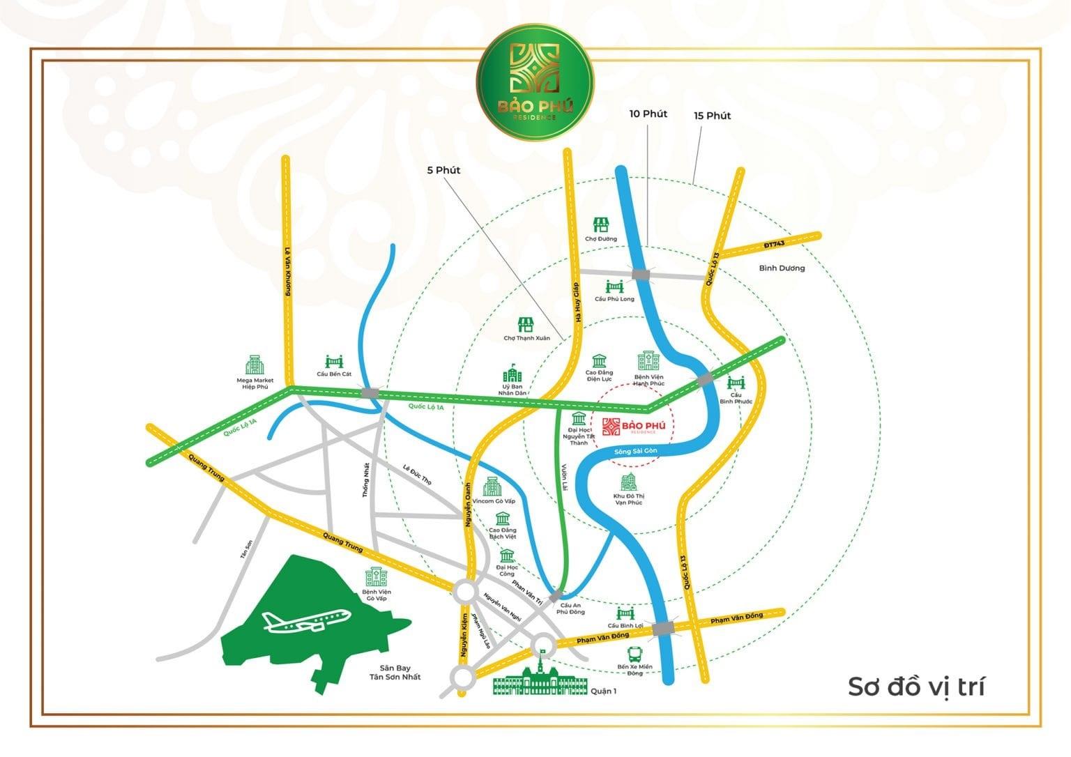 vị trí dự án Bảo Phú Residence