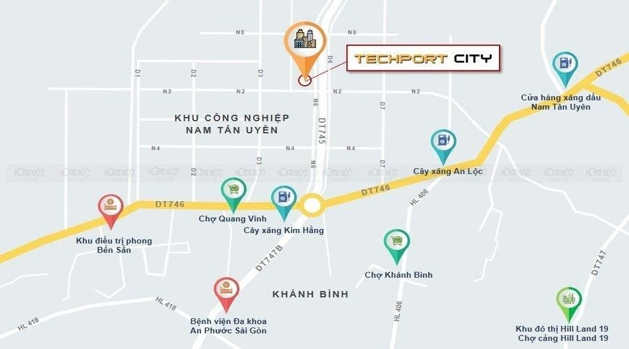 vị trí dự án Techport City