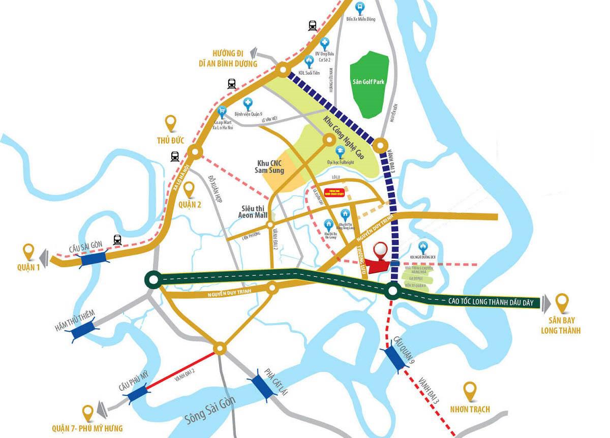 vị trí MT Eastmark City Thủ Đức