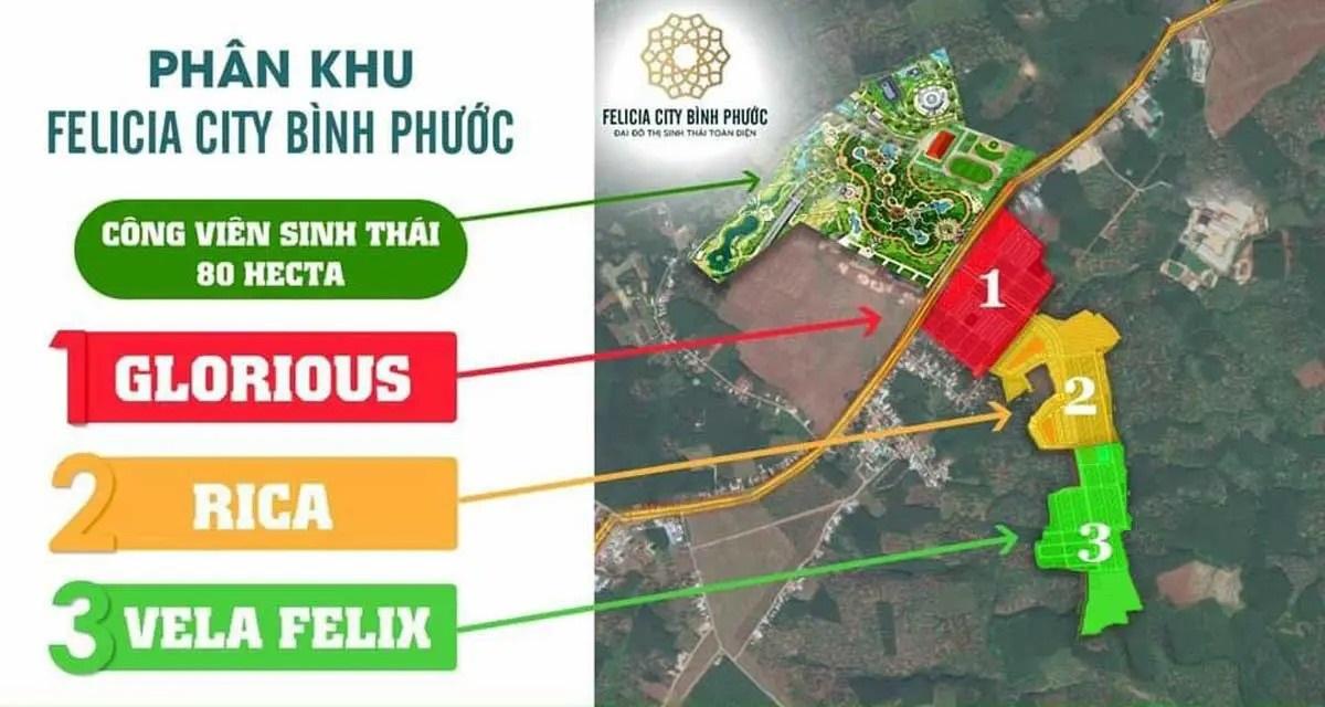quy hoạch tại Felicia City Bình Phước