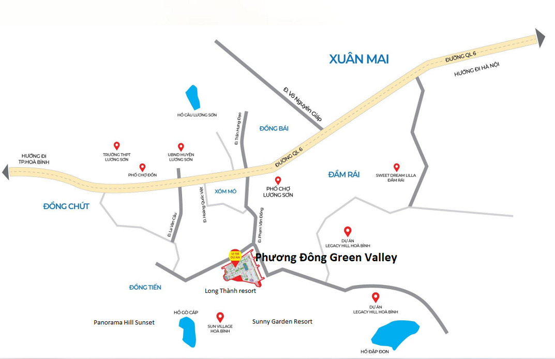 Vị trí dự án Phương Đông Green Valley Phương Đông